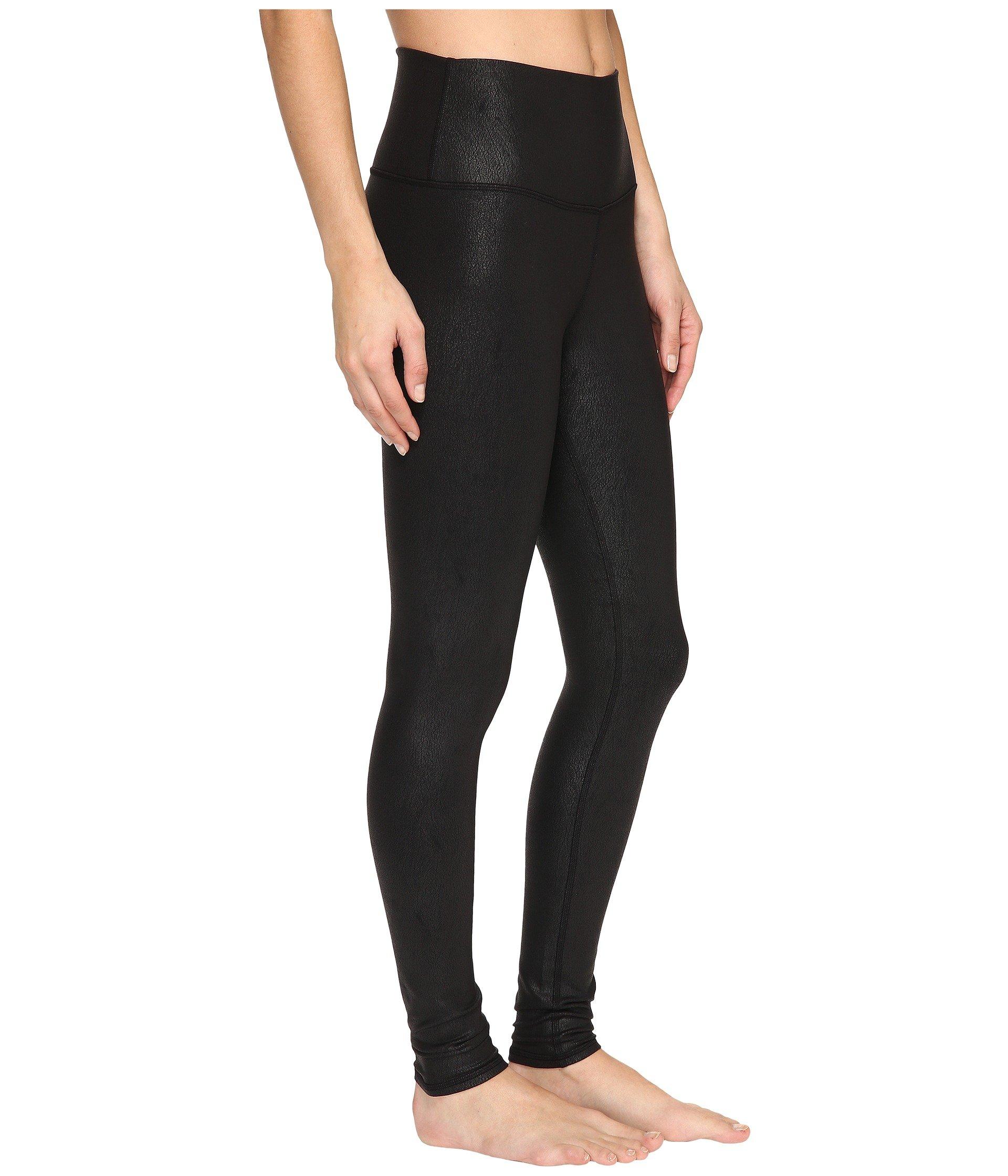 Black Waist Airbrushed Leggings High Alo Leather Performance qIwaHW4