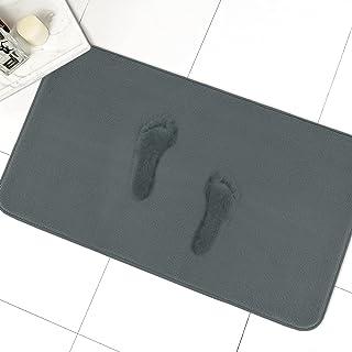 MAYSHINE Memory Foam Bathroom Rugs Non-Slip Water Absorbent Luxury Soft Bath mat-34x19 Inches Charcoal Gray