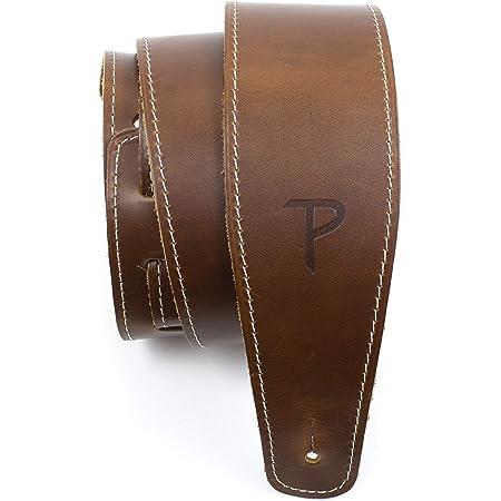 Perri's Leathers Ltd. - Sangle de Guitare - Cuir de Baseball (série) - Marron - Ajustable - Pour Guitares Acoustiques/Basses/Électriques - Fabriquée au Canada (SP25S-7049)