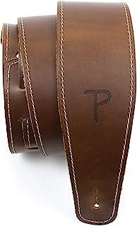 Perri's Leathers Ltd. - Sangle de Guitare - Cuir de Baseball (série) - Marron - Ajustable - Pour Guitares Acoustiques/Bass...