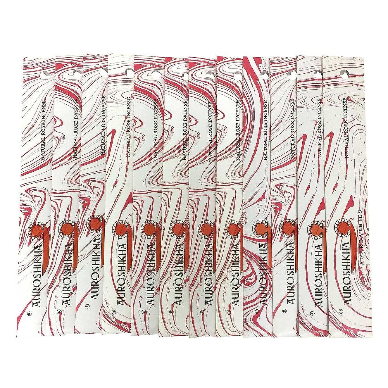 暴君本物の物思いにふけるAUROSHIKHA オウロシカ(NATURAL ROSEナチュラルローズ12個セット) マーブルパッケージスティック 送料無料