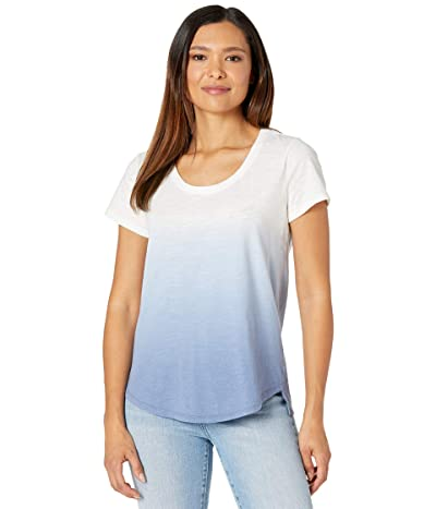 Vince Camuto Short Sleeve Ombre Tie-Dye Knit Top