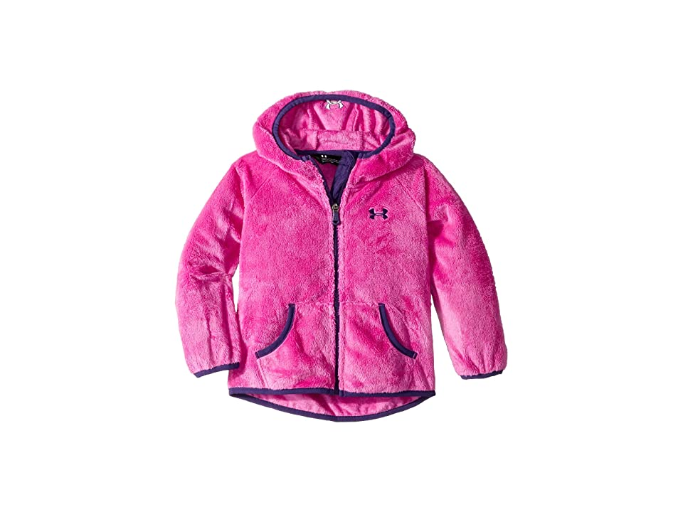 Under Armour Kids UA Cozy Hooded Jacket (Big Kids) (Flou Fuchsia) Girl