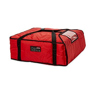 Rubbermaid Commercial Insulated Pizza & Food Delivery Bag, Large Pizza, 21.5in x 19.75in x 7.75in, Red