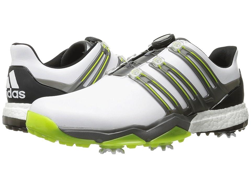 adidas Golf Powerband Boa Boost (Ftwr White/Iron Metallic/Solar Slime) Men