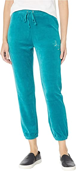 Juicy Emboss Velour High-Waisted Zuma Pants