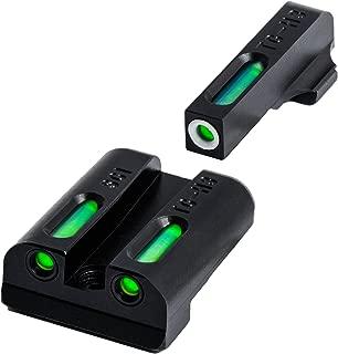 TRUGLO TFX Tritium and Fiber-Optic Xtreme Handgun Sights for Sig Sauer Pistols, Sig Sauer #6 Front / #8 Rear Sets