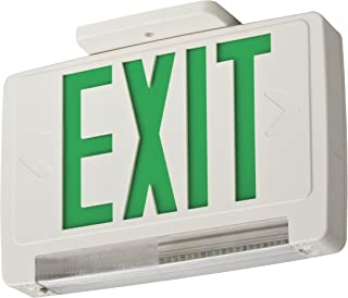 Lithonia Lighting ECBG LED M6 LED Exit and Emergency Light Bar  Combo Fixture with Back Up Battery, Green Letters