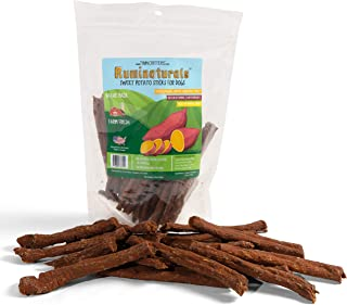 Sweet Potato Dog Chew Sticks Value Pack - 11 oz - Natural Hypoallergenic Dog Chew Treat - 100% Pure Limited Ingredient - Grown on USA Farms - Ruminaturals by TwinCritters