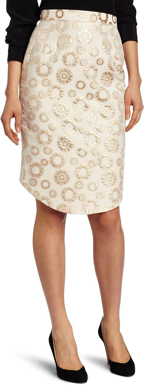 Corey Lynn Calter Women's Latia Metallic Brocade Pencil Skirt