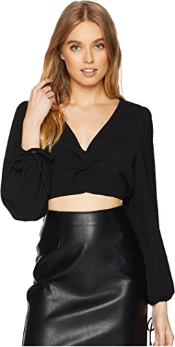 Twist Front Bell Sleeve Top