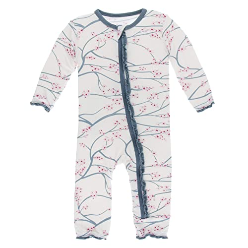 af8e360b23 Kickee Pants Little Girls Print Muffin Ruffle Coverall with Zipper