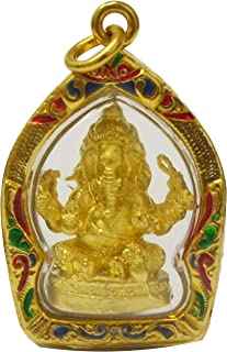 Load Ganeh Ganesha Elephant God Hidu Thai Amulet Success Win All Obstacle