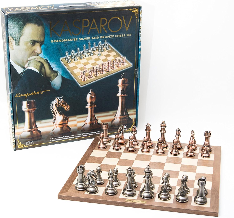 los clientes primero France Cochetes Cochetes Cochetes Kas006-Juego de ajedrez, Caja-Kasparov, Color Plateado y bronce-50 Cm  grandes ofertas