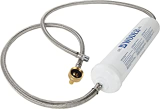 Woder WD-10K-Port Portable Filter with Garden Hose/Ourdoors Faucet Adapter and Stainless Steel Hoses (10000 Gallons)