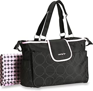 carter's pink and black diaper bag
