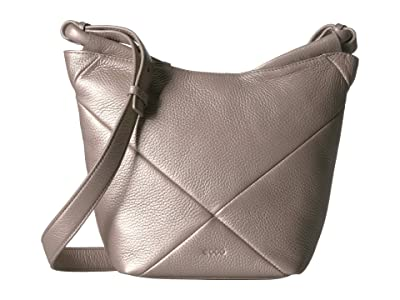 ECCO Linnea Crossbody (Grey Rose Metallic) Cross Body Handbags