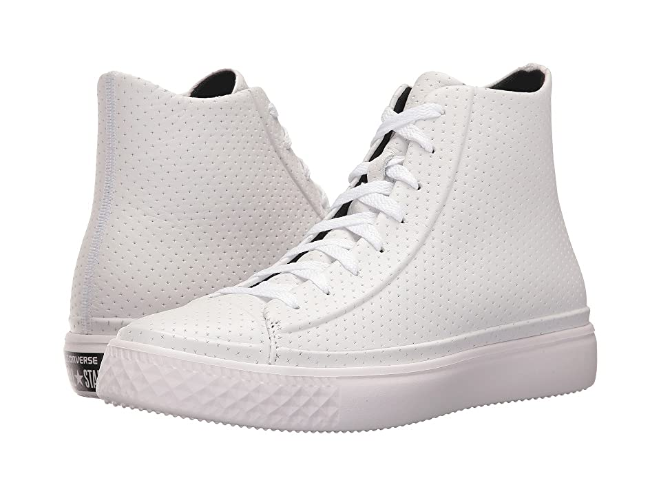 Converse Chuck Taylor All Star Modern Perforated Leather (White/White) Shoes