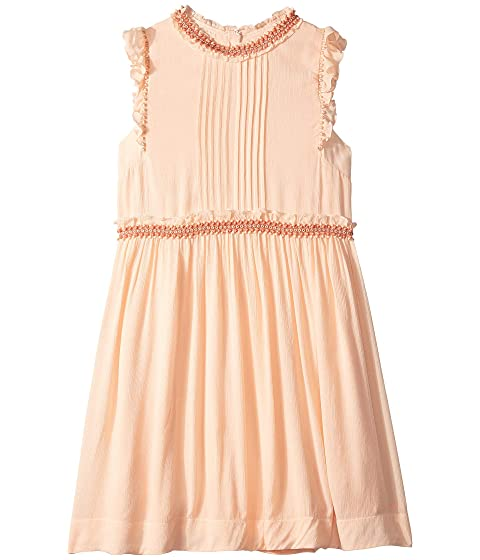 Chloe Kids Couture Dress w/ Pleated Front, Ruffles & Braids (Big Kids)