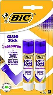 BIC Lot de 2bâtons de colle colorée 8 g–Violet