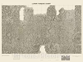 Historic Map - Lunar Farside Chart. (LFC-1). 1967 - Vintage Wall Art - 36in x 24in