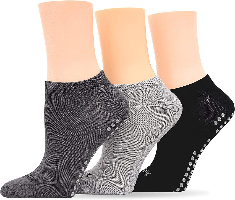 Hot Sox Originals Assorted 3 Yoga Sock Low Cut 3 Pack