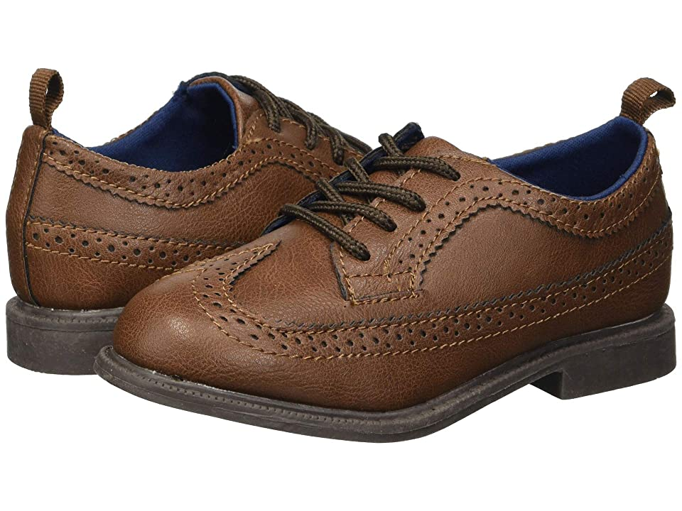 Carters Oxford 5 (Toddler/Little Kid) (Brown PU) Boy
