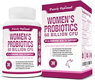 Premium Probiotics for Women - 60 Billion CFU, Dr. Formulated Prebiotics and Probiotics for Women, D-Mannose, ProCran - Digestive, Immune & Vaginal Health Supplement - Shelf Stable, One a Day, 30 Caps