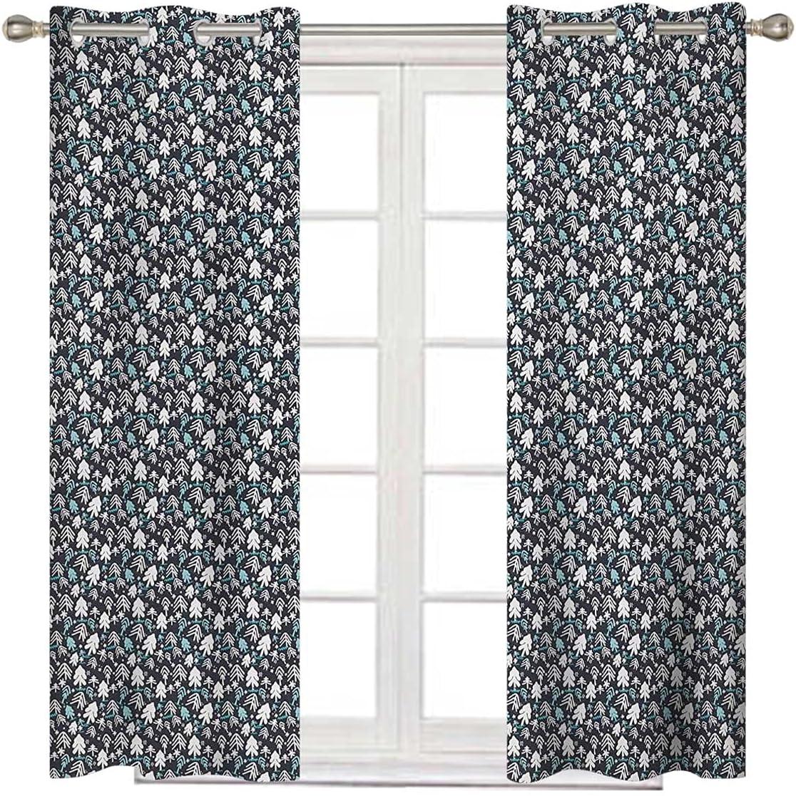 Christmas Bedroom Nashville-Davidson Mall Blackout Cheap SALE Start Curtains 72 Inches Dark Long Whi Blue
