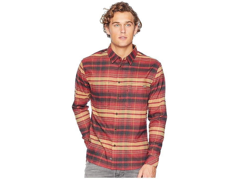 Quiksilver Waterman Thermo Hyper Flannel II Long Sleeve Shirt (Cardinal) Men