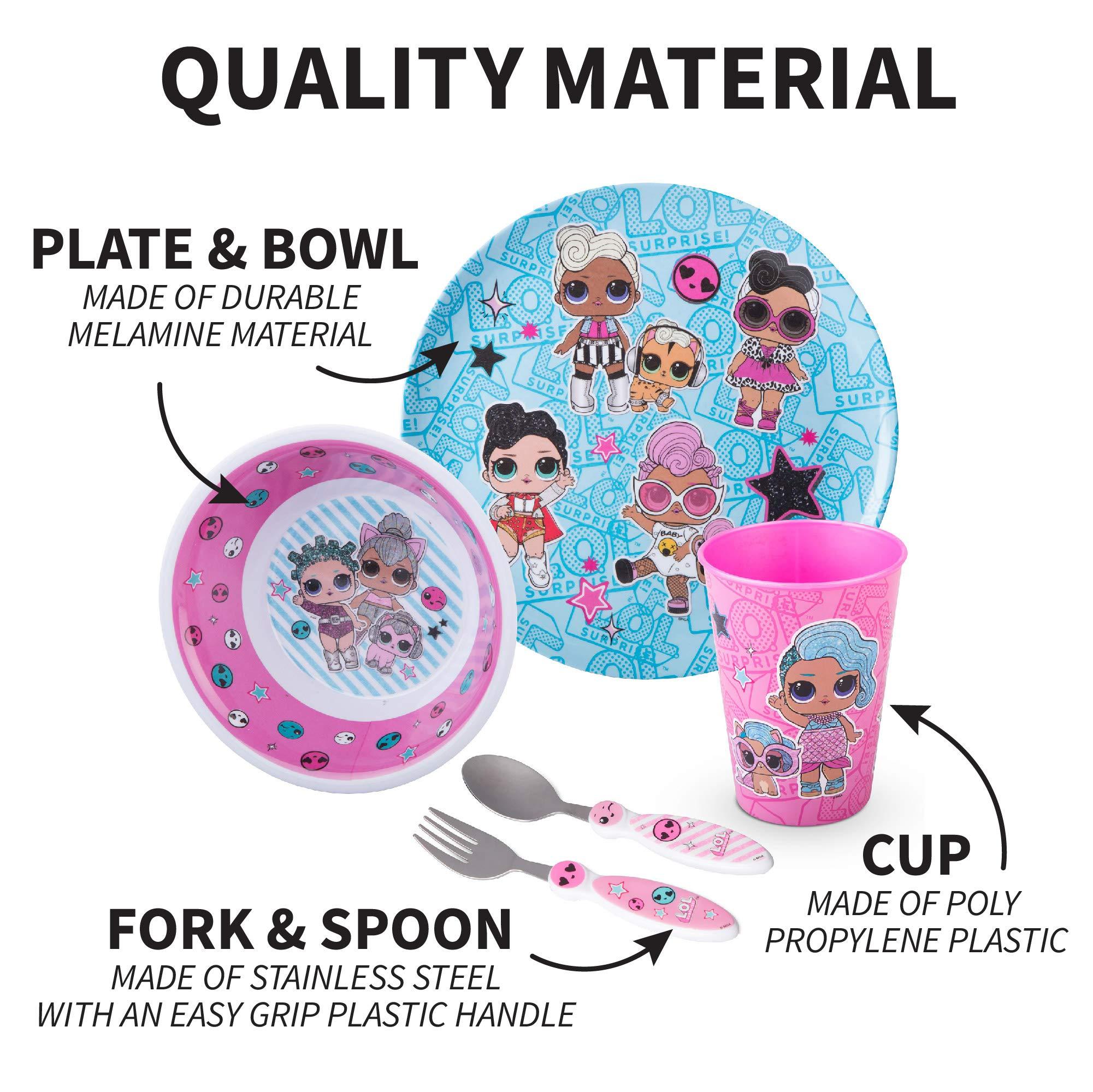 Bowl Plastic Brand New LOL Surprise Glitter It Up Breakfast Set Plate Cup