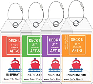 Carnival Cruise Luggage Tags [2019 & 2020] Large Tag Holders for your Carnival Cruise Ship Luggage Tags