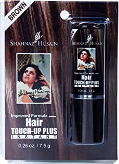 Shahnaz Husain Ayurvedic Herbal Ayurvedic Hair Touch Up Kit Brown Latest International Packaging (0.26 fl oz / 7.5 g)