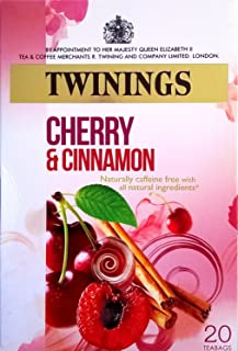 Twinings Cherry and Cinnamon 20 Tea Bags Pack of 12