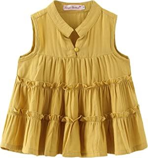 Colorful Childhood Girls Ruffles Blouse Girl Casual Tee Shirts Long Sleeve Loose Fit Soft T Shirt Spring Tops
