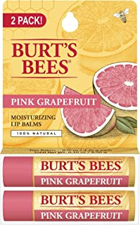 Burt's Bees 100% Natural Moisturizing Lip Balm 2 ct Pink Grapefruit