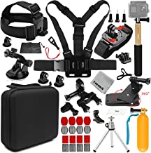 $29 » Gurmoir 18in1 Action Camera Accessories Outdoor Climbing Hiking Universal Action Camera Kit for GoPro Hero 8/Max/7/6/5/4Session5/4/AKASO/DJI Osmo Action/SJCAM/APEMAN and More Action Cameras(AT09)