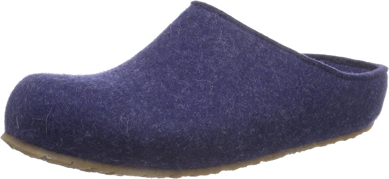 Haflinger Men's Textile Slippers US 9 M (EU 42) bluee