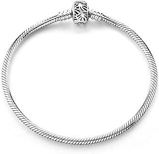 Bracelet,925 Sterling Silver Basic Charm Bracelet Snake Chain Fine Jewelry for Women, Best Christmas Birthday Gift for Mother Wife Girlfriend