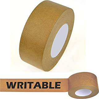 Star Brand Writable Kraft Flatback Paper Tape Covering up Writing and Markings on Reused Boxes | Ultra-Sticky Kraft Packaging Tape Sealing Cartons (2 Inch x 60 Yards, Kraft) …
