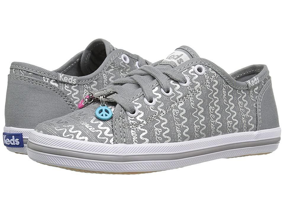 Keds Kids Kickstart Charm (Little Kid/Big Kid) (Silver) Girl