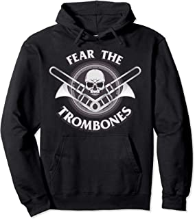 Funny Fear the Trombone Player Gift Accessories Men Women Pullover Hoodie