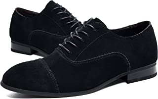MoreDays Suede Dress Shoes for Men Lace Up Business Casual Oxford Shoes Desert Boot Men's Chukka Martin Boots