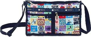 NY to LA Deluxe Shoulder Satchel Crossbody Bag + Cosmetic Bag, Style 7519/Color K602 (New York to Los Angeles, Exclusive)