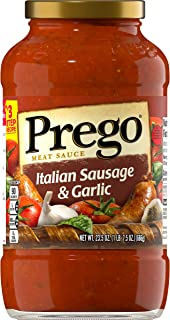 Prego Italian Sausage & Garlic Meat Sauce, 23.5 Ounce (Pack of 12)