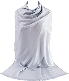 Women's Metallic Soft Pashmina Shawl Wrap Scarf in Solid Colors
