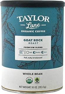 Taylor Lane Organic Coffee - Whole Bean - 10 Ounce (Goat Rock Roast)