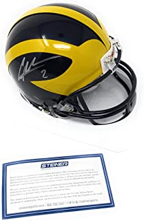 Charles Woodson Michigan Wolverines Signed Autograph Mini Helmet Steiner Sports Certified