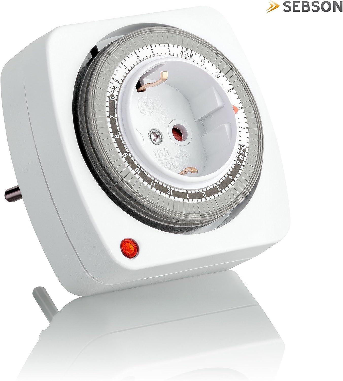 3600 W SEBSON/® Minuterie Ext/érieure programmable num/érique hebdomadaire Minuterie 24h Fonction al/éatoire Minuterie Minuterie journali/ère Max