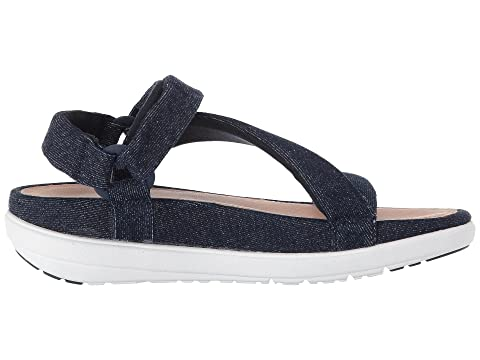 99e9760ae75cf FitFlop Loosh Luxe™ Z-Strap Denim Sandals at 6pm